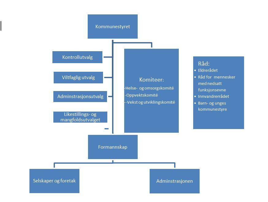 Figur: Viser den politiske organiserignen i Elverum kommune.